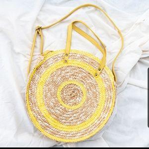 Huge Swirly yellow grass like design Tote/crossbod